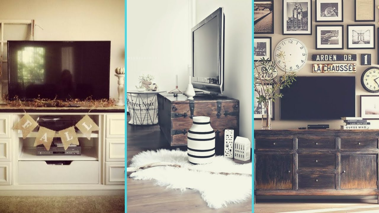 Diy Rustic Shabby Chic Style Tv Stand Wall Decor Ideas Home Flamingo Mango