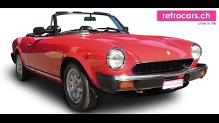 retrocars.ch Fiat 124 DS Pinifarina Spider- 1983 New Entry