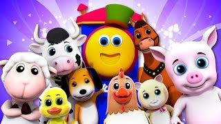Farm Animals Song | Bob The Train | Kindergarten Songs And Videos For Kids