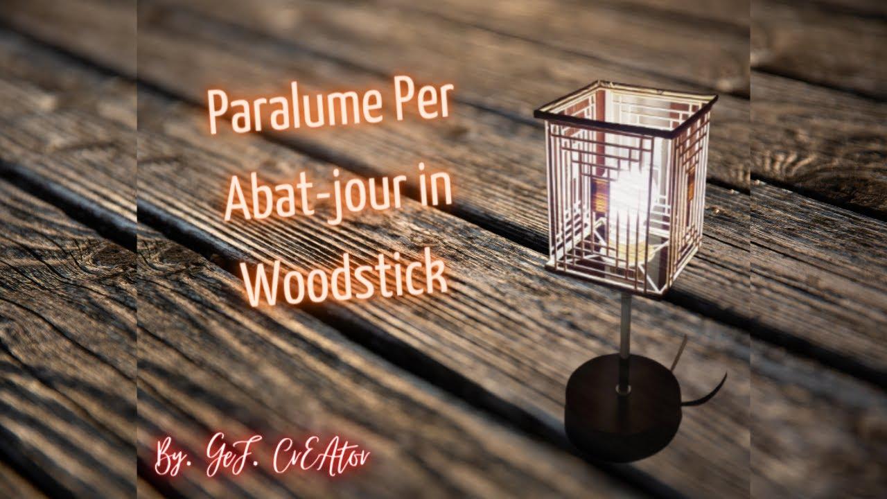 Come E Fatto Paralume Da Abat Jour In Legno Fai Da Te How It S Made Lampshade In Wood Stick Youtube