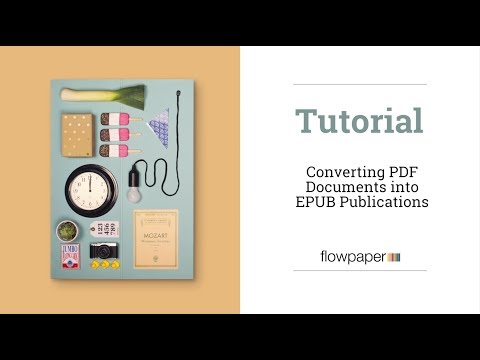 How To Convert PDF Documents Into EPUB Publications