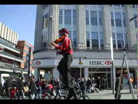 Tightrope Walking Violin Player
