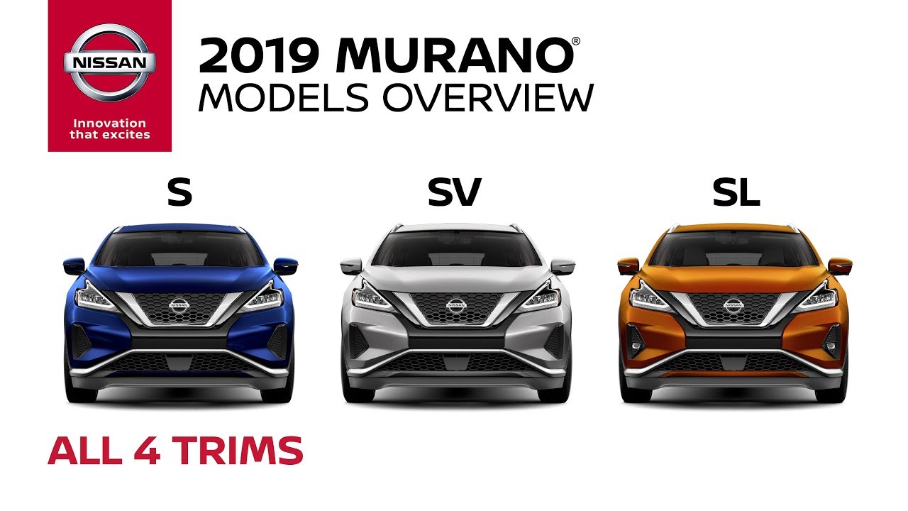 2019 Nissan Murano Trim Level Overview