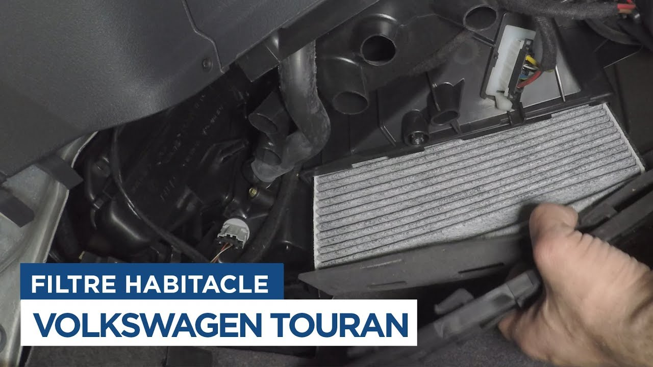 volkswagen touran changer le filtre dhabitacle youtube