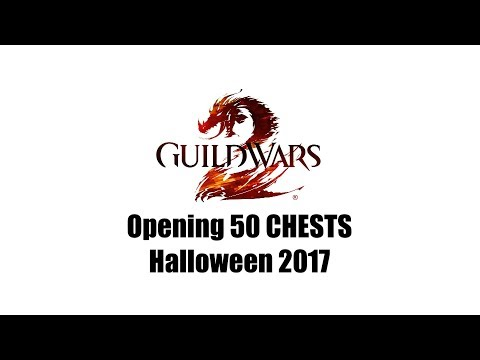 Guild Wars 2 Halloween 2017 Opening 50 Black Lion Chests for Giggles
