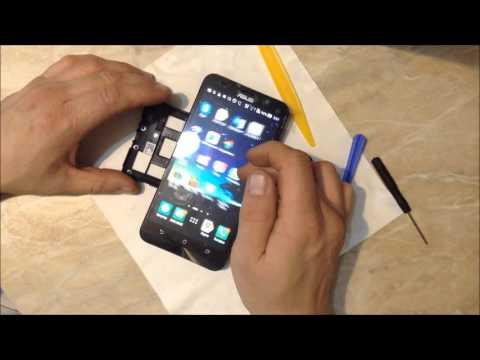 Смартфон ASUS ZenFone 2 (ZE551ML ZE550ML) полный разбор и замена Дисплея/Экрана/Тачскрина