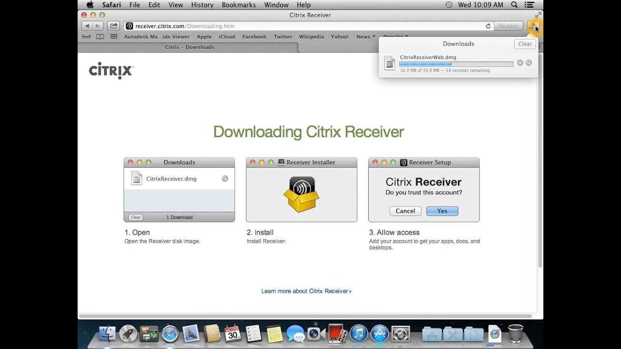 Citrix Receiver For Mac 10 7 5 Download