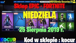 FORTNITE Shop 😀 Sunday 25 August 2019 🆕 INFINITE, FREESTYLE, MAJOR LAZER, TAB #SKLEP