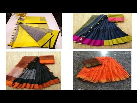 Linen Sarees Collection!! Linen Sarees Online Shopping!! Linen Saree Online Reviews!! Tousif Vlogs
