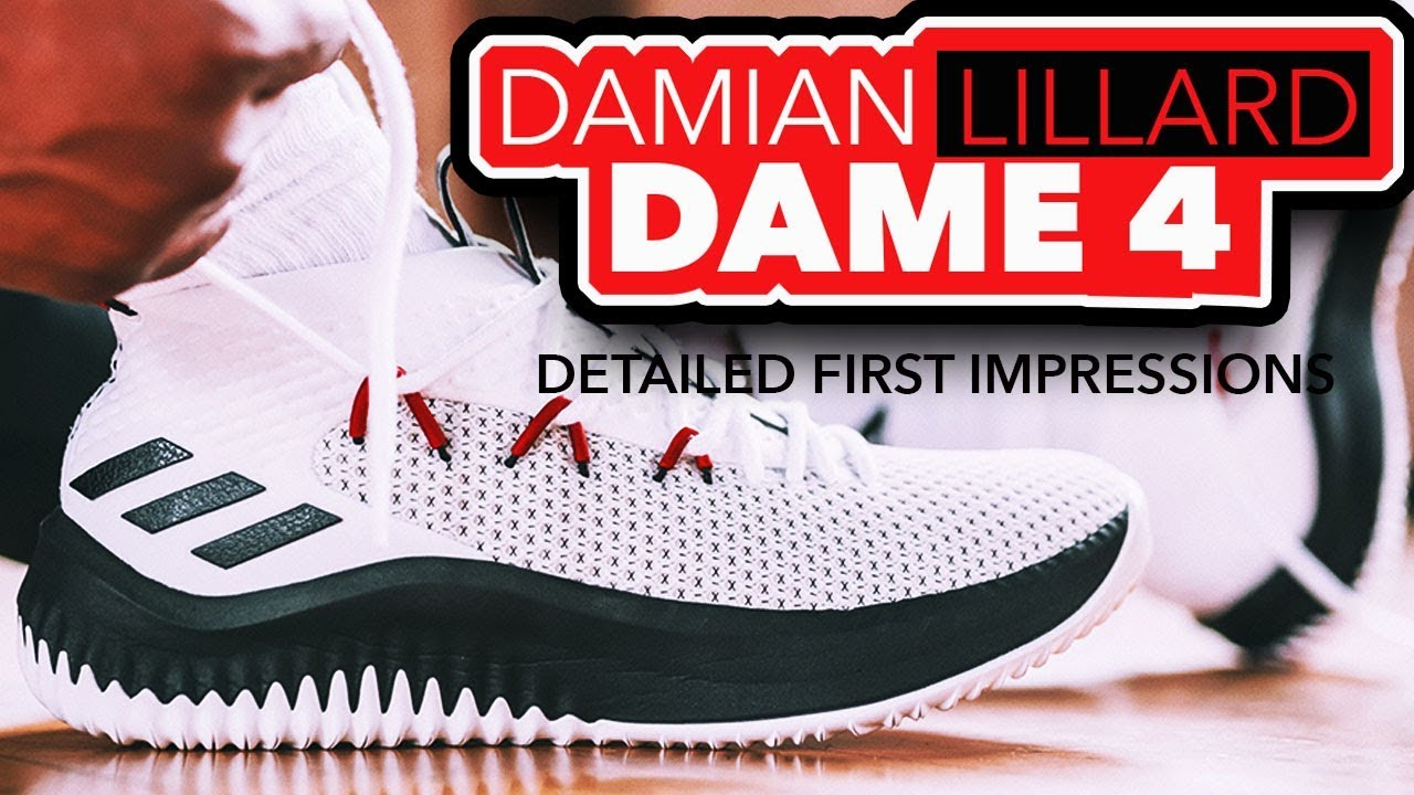 huge selection of e8e96 6be89 Adidas Dame 4 Detailed First Impressions