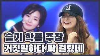 레드벨벳 슬기(Red Velvet Seulgi)가 '학폭' 가해자? 주작하다가 네티즌 수사대에…