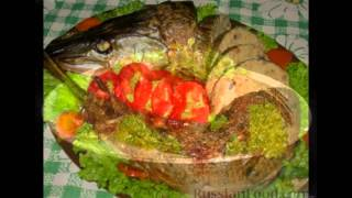 Щука фаршированная рыбно-свиным фаршем , пошаговый рецепт приготовления