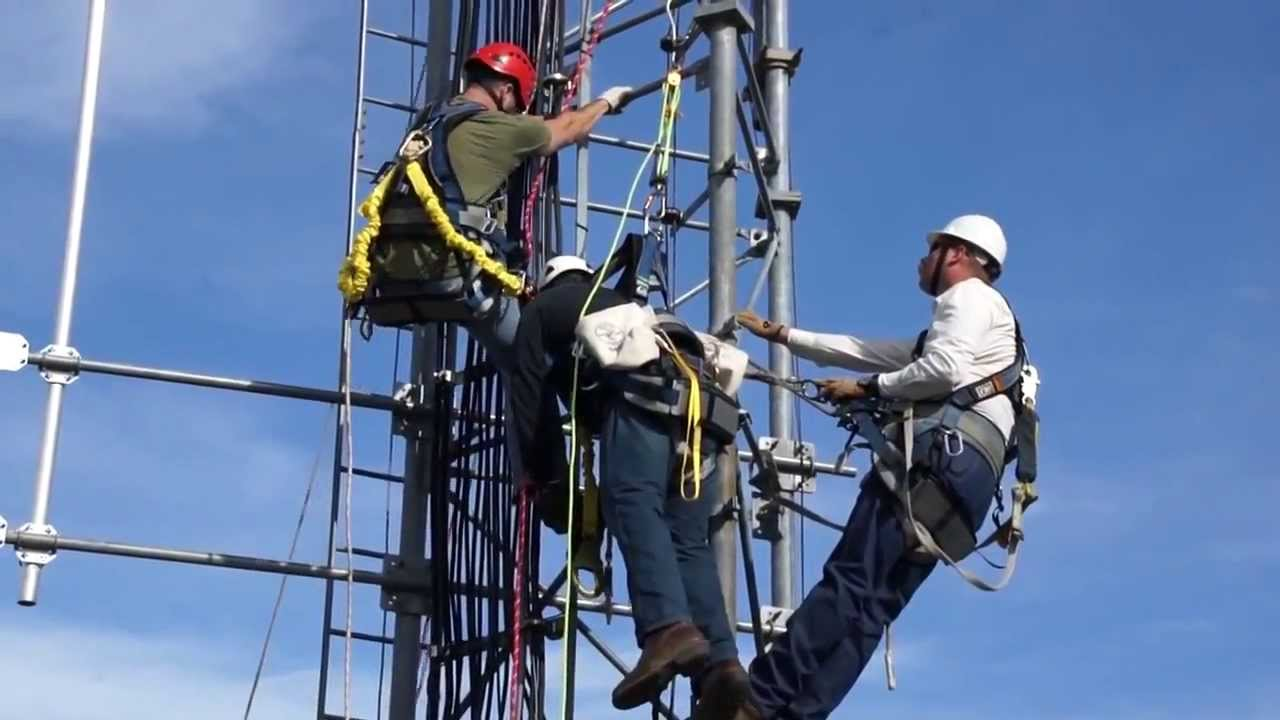 PSC Tower Climbing and Rescue Training - YouTube