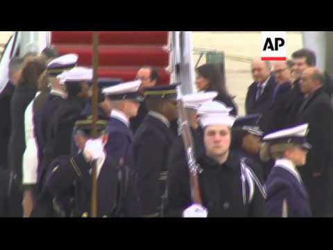 President Hollande arrives for state visit