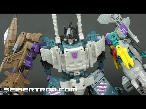 Transformers Combiner Wars Bruticus Review with Combaticons and Shockwave