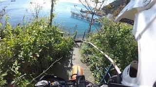 Экстрим спуск  С горы Нины в Джанхот по велотропе на мотоциклах
