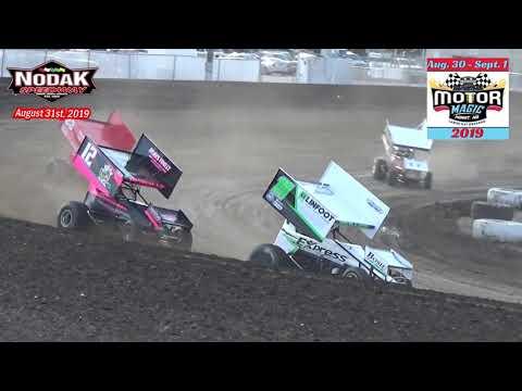 Nodak Speedway CAOSS Sprint Car Heats (Motor Magic Night #2) (8/31/19)