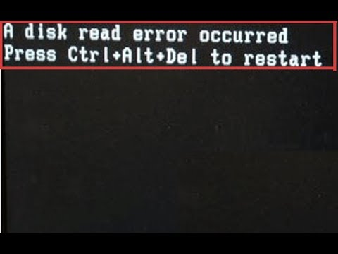 A Disk Read Error Occurred Press Ctrl+alt+del To Restart Windows 7 1000% Solution My Tips