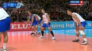 Волейбол  ЧЕ  Мужчины  Россия Сербия  1 2 финала  28 09 2013