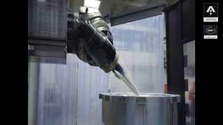 "MACHINING HYDRAULIC KAPLAN TURBINE ON ZAYER ""XIOS G"" MACHINE"