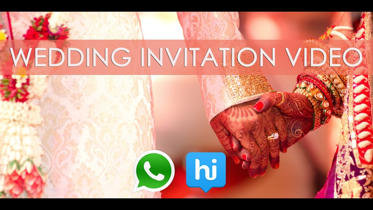 Get WeddingEngagement Invitation Video For Whats AppHike YouTube