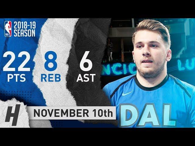 Luka Doncic Full Highlights Mavericks vs Thunder 2018.11.10 - 22 Pts, 8 Reb, 6 Ast
