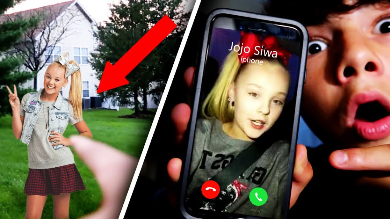 Calling The Real Jojo Siwa She Broke Into My House Youtube