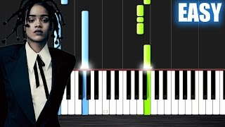 Rihanna - Love On The Brain - EASY Piano Tutorial by PlutaX