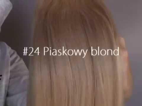 #24 piaskowy blond prezentacja koloru HAIRSELF