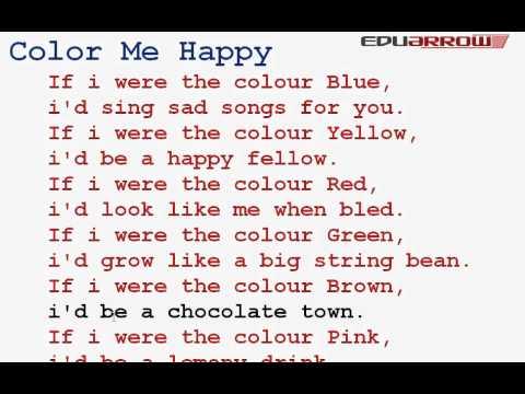 color me happy rhyme