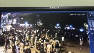 CCTV footage from MG Road in Bengaluru on New Year