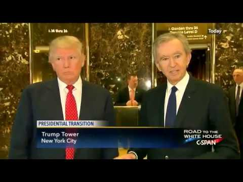 """Trump;""""Lots of Jobs"""" Louis Vuitton Moët Hennessy Chair"""