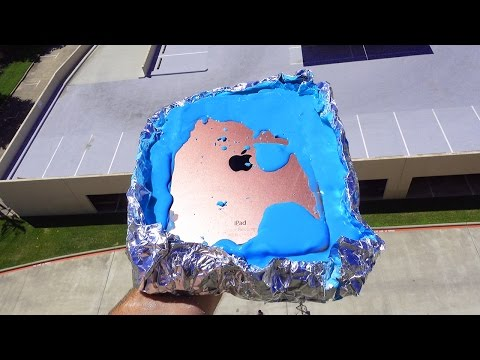 Can Oobleck Save iPad Pro 9.7 from a 100 FT Drop Test? (non-Newtonian fluid) - GizmoSlip