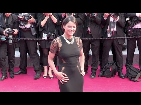 Sexy Michelle Rodriguez on the red carpet of Irrational Man in Cannes