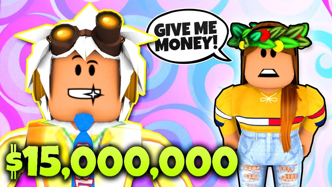 THE RICHEST GUY IN ROBLOX BLOXBURG PRANKS A GOLD DIGGER! Roblox Bloxburg $15,000,000 Trivia