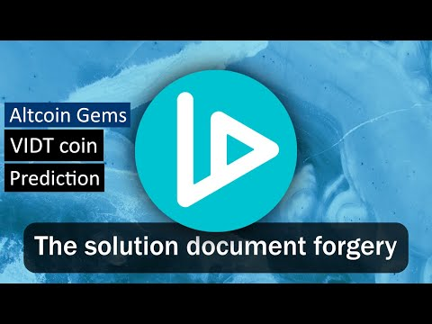 V-ID Will end document forgery! | VIDT Altcoin Gem |