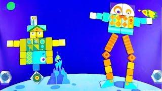Видео для детей - Собираем Роботов из магнитов