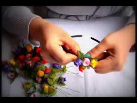 como hacer una diadema de flores o floral crown