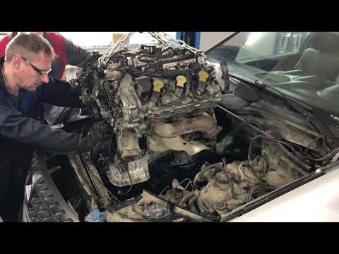 Замена Мотора. Mercedes-Benz ML 350. Первое Видео Автосервиса.