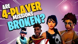 Fortnite Save the World Bug Hunting | 4 Player Missions and Rewards Gameplay