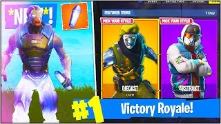 *NEW* DIECAST, ABSTRAKT & MORE *SECRET* SKINS in Fortnite Battle Royale! (Season 4 BATTLE PASS)