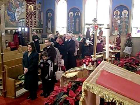 Christmas Day 2009 Holy Trinity Russian Orthodox Church Yonkers - Christmas Carols in Slavonic