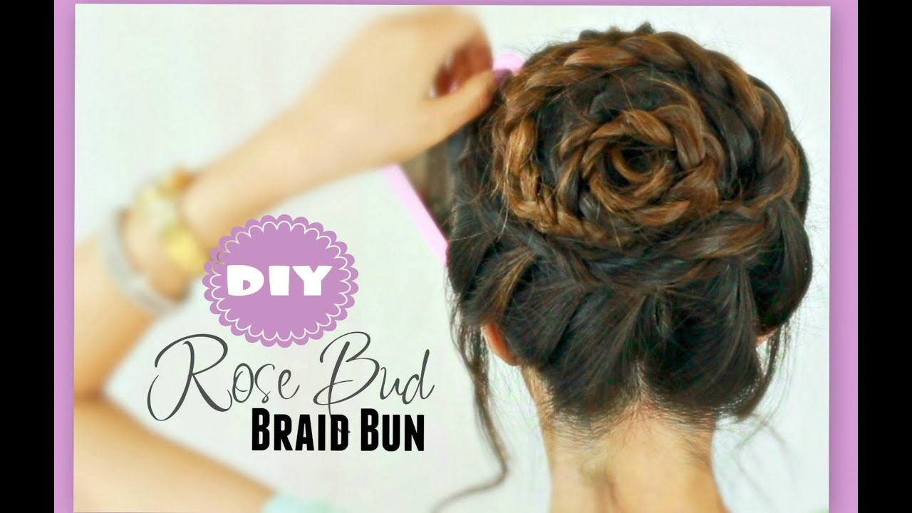 rose braid bun tutorial cute