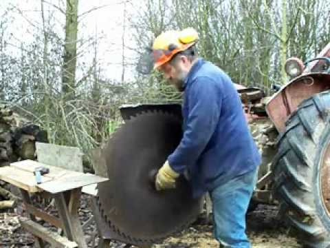 Sharpening A Circular Saw For Cutting Firewood Part 2