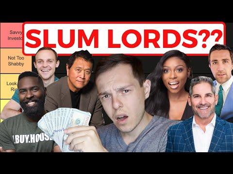 Real Estate Gurus of Youtube: Slum Lords or Savvy Investors? (Tier Ranking)