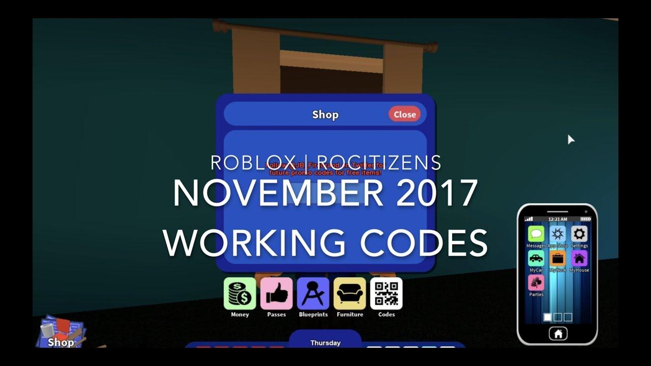Codes List Rocitizens Roblox 2017