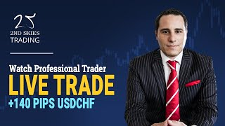 Forex Live Price Action Trade +140 Pips USDCHF - 2ndSkiesForex