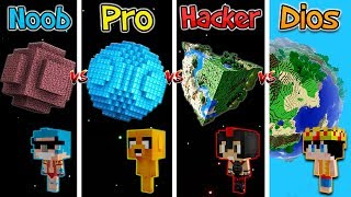 MINECRAFT: PLANETA NOOB VS PRO VS HACKER VS DIOS EN GALACTICRAFT