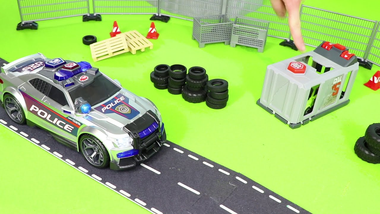 Fire Truck, Excavator, Garbage Trucks, Police Cars & Train Toy Vehicles for Kids