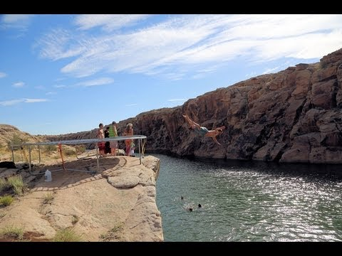 Clear Creek - AZ: Trampoline Cliff Jumping
